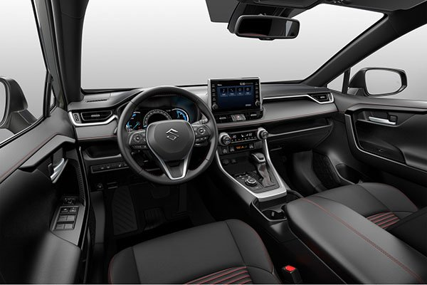 A picture of the interior of the Suzuki ACROSS