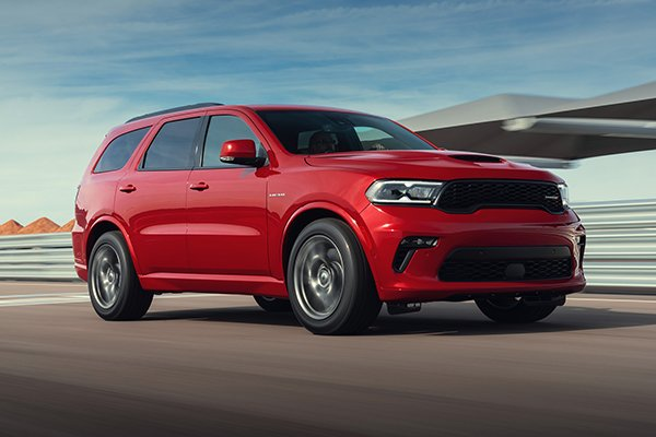 A picture of the side of the Durango SRT Hellcat