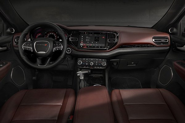 A picture of the dashboard of the Dodge Durango SRT Hellcat