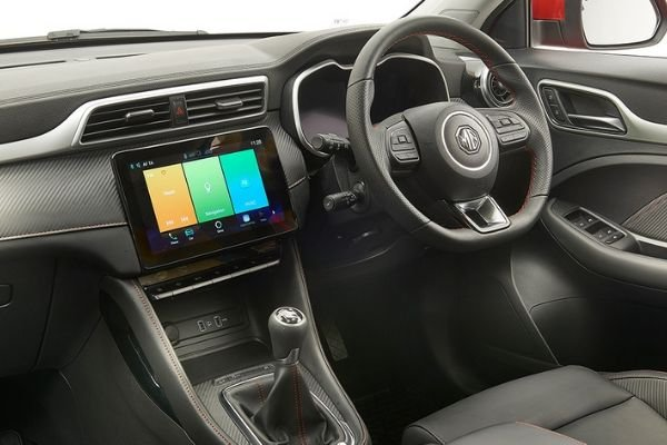 Interior view of the MG ZS