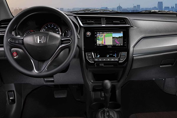 A picture of the interior of the Honda Mobilio
