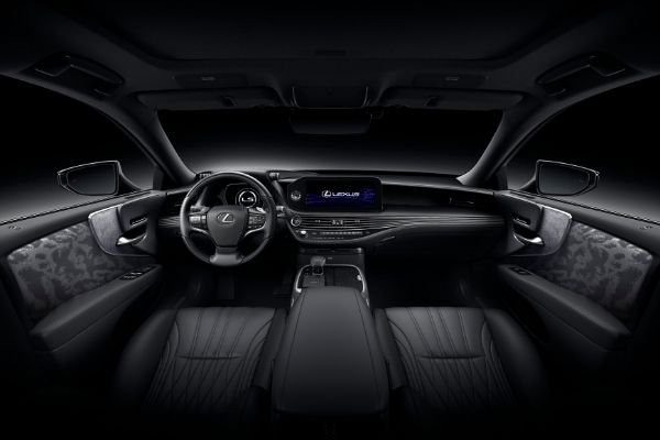 Interior view of the refreshed Lexus LS