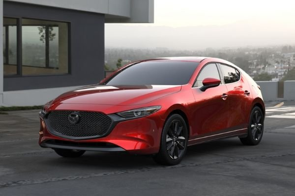 A red Mazda3