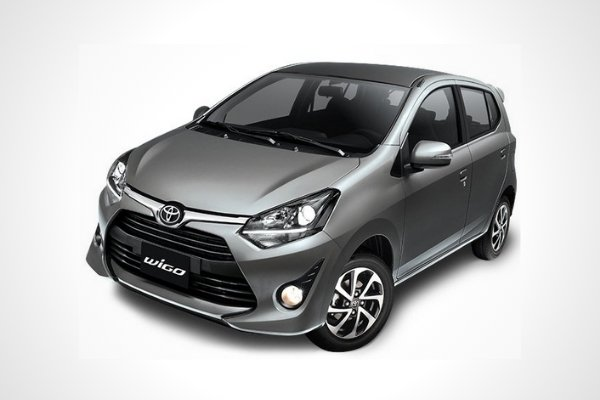 A picture of the Toyota Wigo non-TRD variant