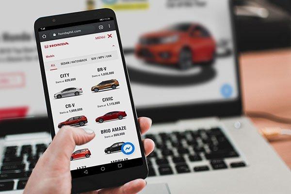 Honda Cars PH digital showroom