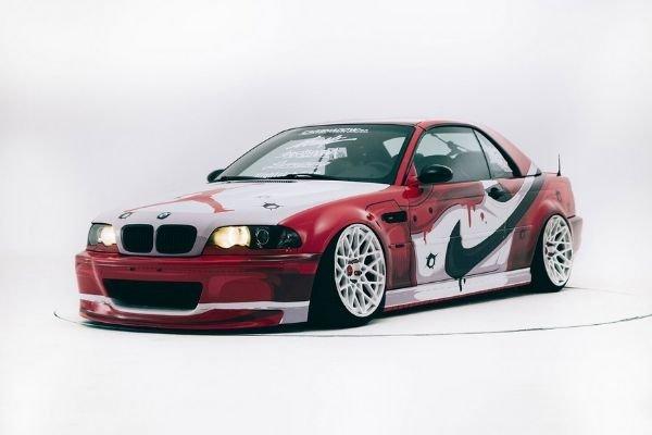 The Air Jordan 1 themed BMW M3 (E46)