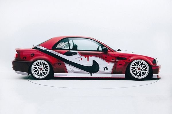 Side view of the Air Jordan themed M3