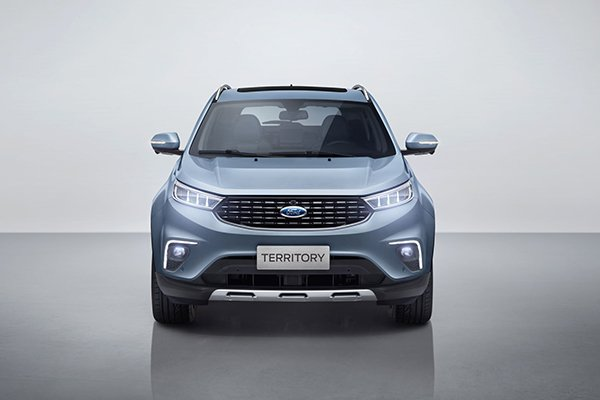 A picture of the front of the Ford Territory