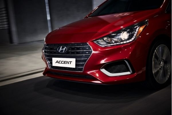 Front fascia of the fifth-gen Accent