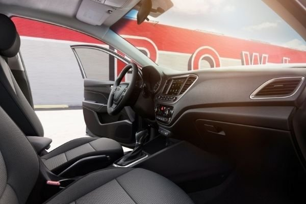 Interior view of the new Accent