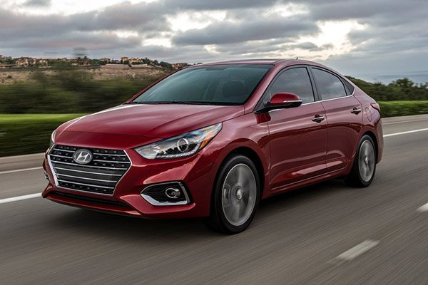 A picture of the 2020 Hyundai Accent