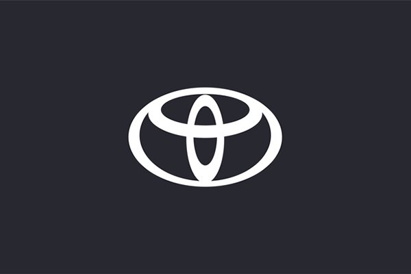 A picture of the new Toyota logo for Europe