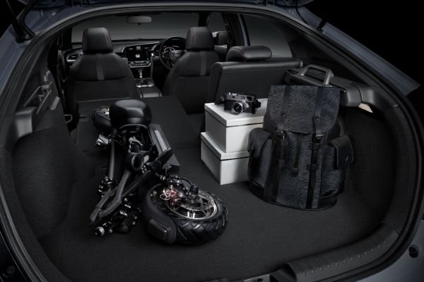 Cargo space view of the Honda Civic Hatchback