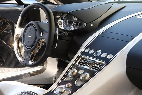 A picture of the interior of the Aston Martin One-77