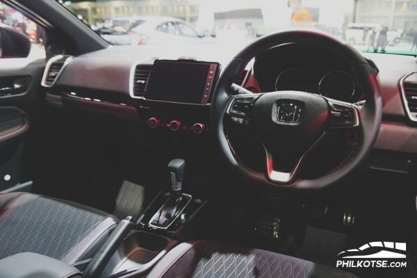 A picture of the interior of the Honda City RS