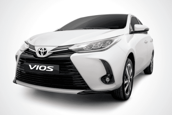 A picture of the front of the 2020 Toyota Vios