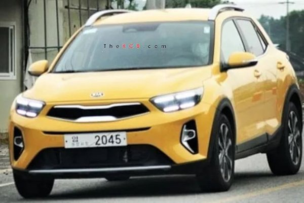 A picture of the front of the updated Kia Stonic.
