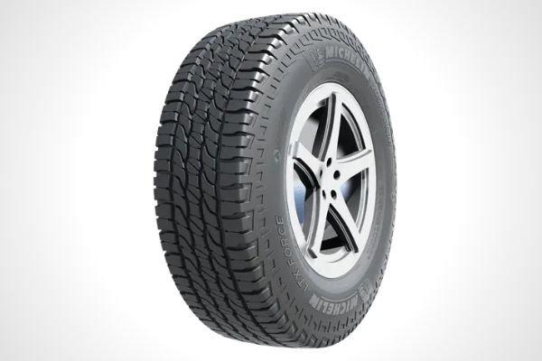 A Michelin all-terrain tire