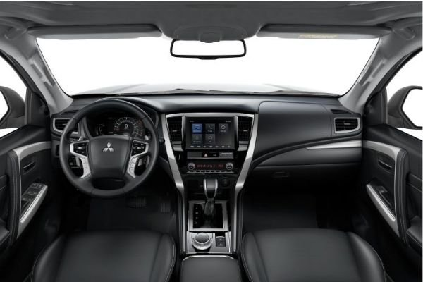 Interior view of the Montero Sport