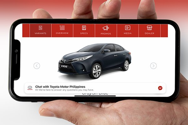 toyota vios on smartphone for home delivery