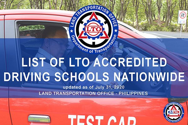 List of LTO accredited driving schools nationwide