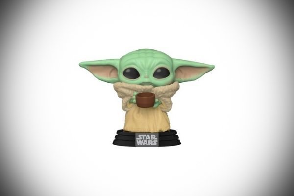 A picture of baby Yoda Funko Pop