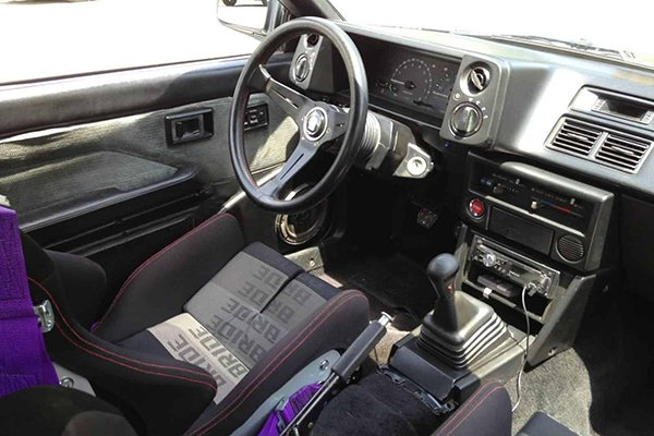 A picture of the interior of a Toyota AE86