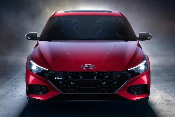 Hyundai Elantra N-Line red