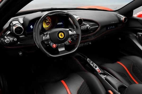 Interior view of the F8 Tributo