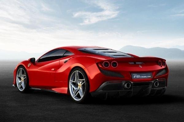 Rear view of the Ferrari F8 Tributo