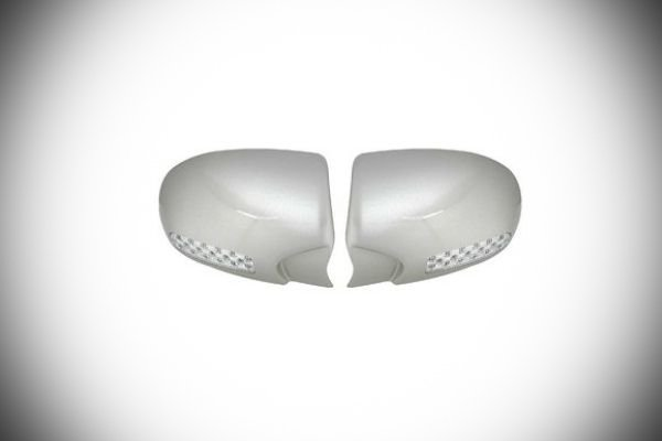 A picuture of side mirror covers with LED blinkers
