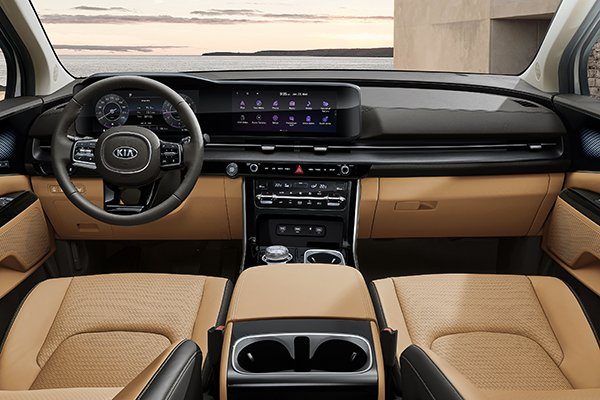 A picture of the interior of the next-gen Kia Carnival.