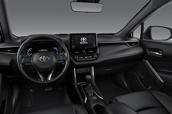 A picture of the interior of the Corolla Cross.