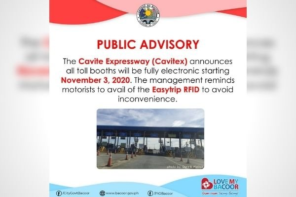 The Public Advisory from the City Government of Bacoor