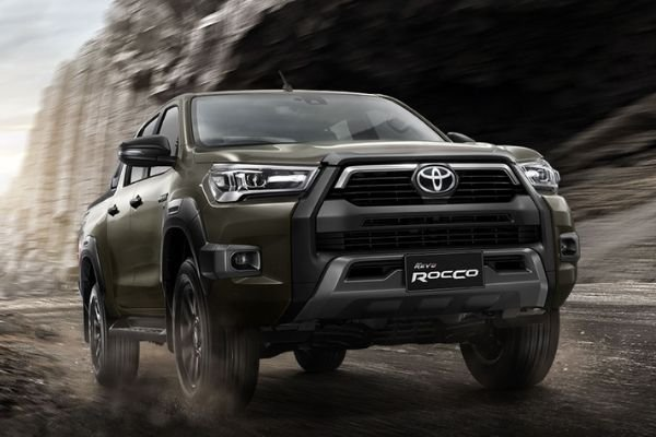 A Toyota Hilux off-roading
