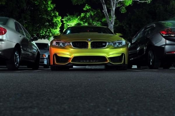 BMW parked