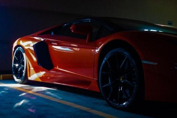 Lamborghini parked