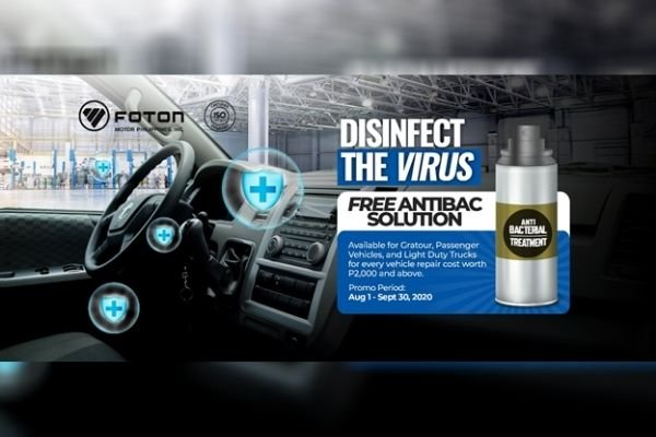 Free Antibac Solution Promo ad