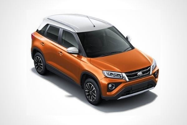The Toyota Urban Cruiser in Groovy Orange with Sunny White Roof