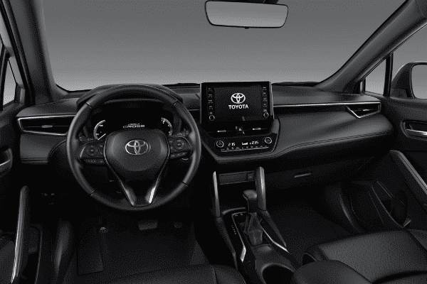 The interior of the Toyota Corolla Cross.