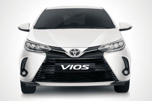 A white Toyota Vios