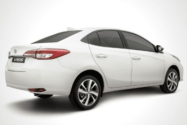 Rear view of the new Toyota Vios