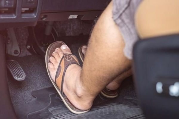 Driving with slippers 3