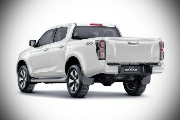 A picture of the rear of the new 2021 D-Max.
