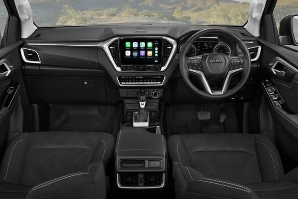 A picture of the interior of the 2021 Isuzu D-Max.