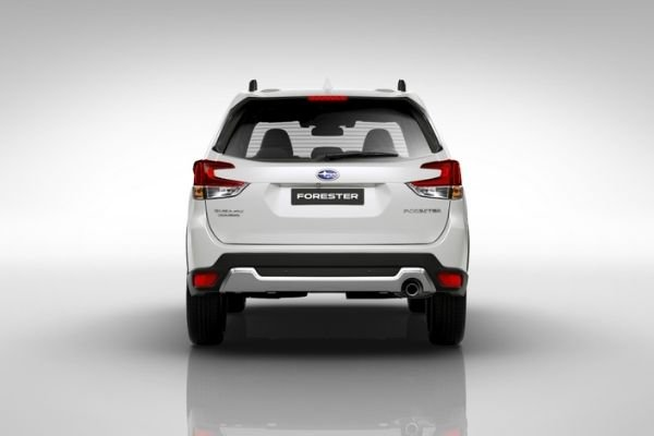 Rearview of the Subaru Forester