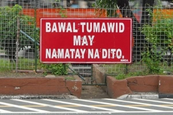 A LTO sign in the PH in red