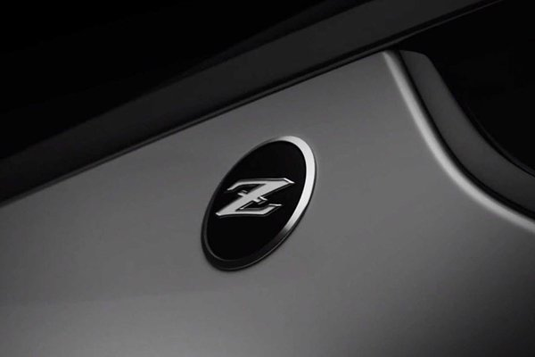A picture of the z logo on the new z car.