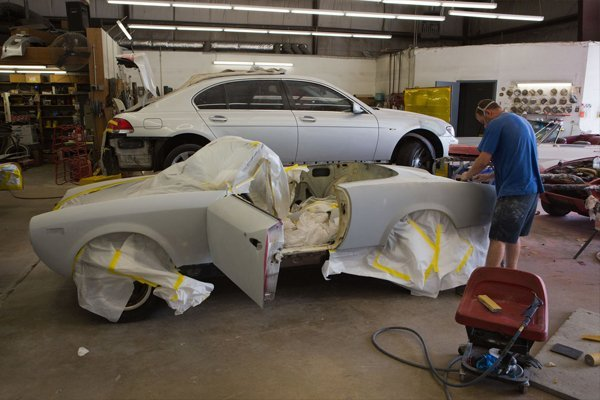 A car getting painted