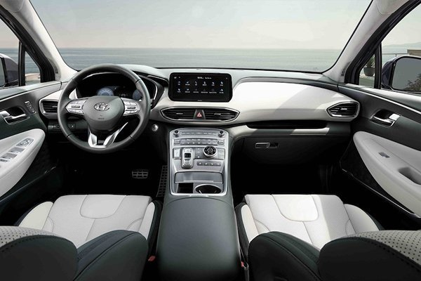 A picture of the interior of the 2021 Santa Fe.